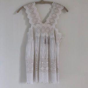 Ulla Johnson Embroidered White Top✨